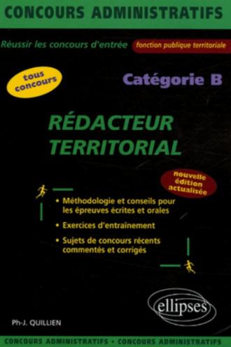 Rédacteur territorial - catégorie B - 2e édition