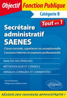 Secrétaire administratif / SAENES de classe normale, supérieure ou exceptionnelle (concours internes et examen professionnel)