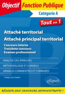 Attaché territorial - Attaché principal territorial. Concours interne, troisième concours et examen professionnel