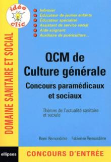 QCM de culture générale - Concours paramédicaux et sociaux
