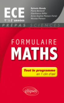 Formulaire Maths ECE 1re et 2e année