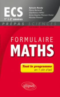 Formulaire Maths ECS 1re et 2e année