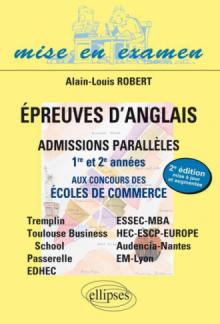 Epreuves d'anglais aux concours des écoles de commerce - Admissions parallèles 1re et 2e années - Bac+2 à Bac+5