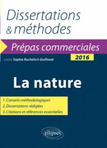 La nature. Épreuve de culture générale Prépas commerciales 2016