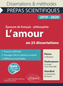 Thème et les trois œuvres. Epreuve de français/philo. Prépas scientifiques 2019-2020