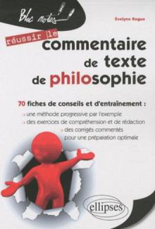 Le commentaire de texte de philosophie  - 2e édition