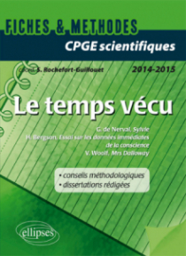Le temps vécu. V. Woolf (Ms Dalloway), G. de Nerval (Sylvie) et H. Bergson (Essai sur les données immédiates de la conscience). Épreuve de français et de philosophie CPGE scientifiques.