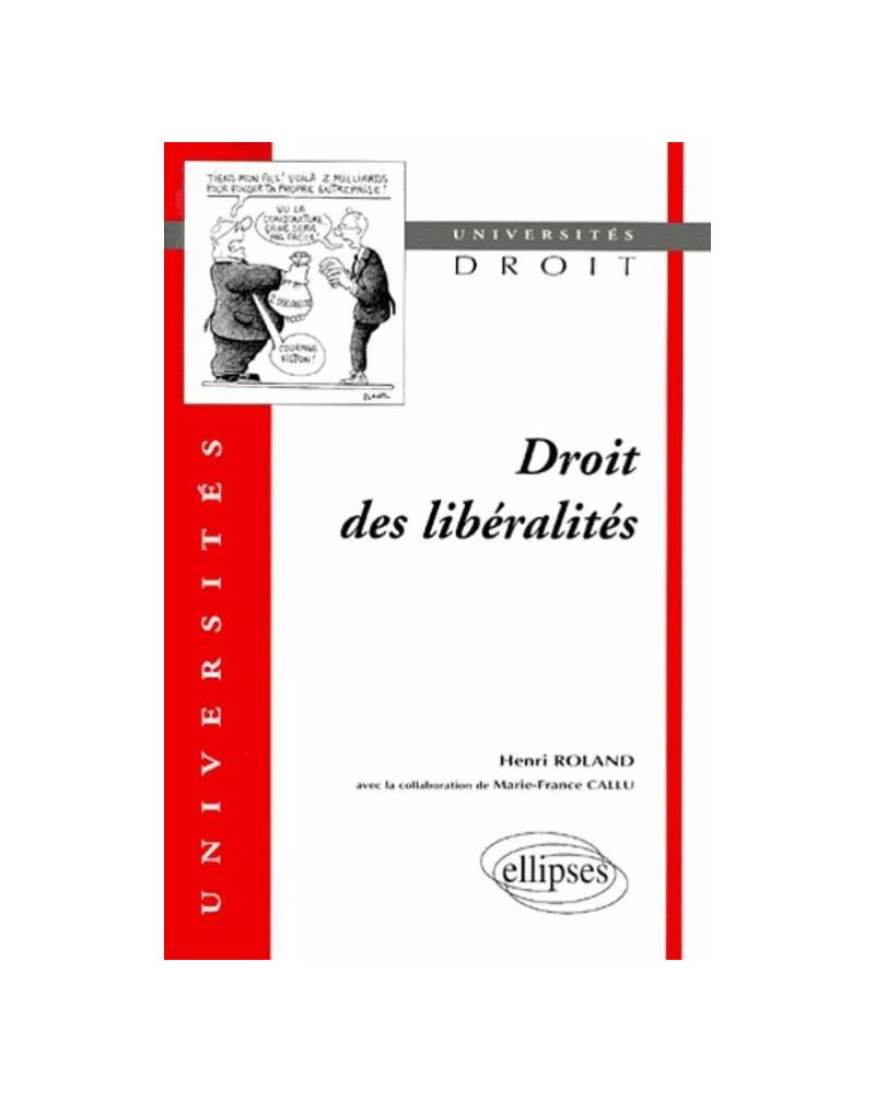 Droit des libéralités