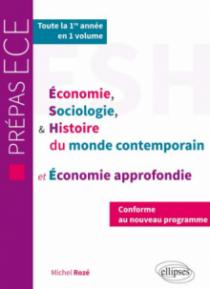 ESH et économie approfondie - nouveau programme prépas ECE 1re année