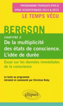 Bergson. Essai sur les données immédiates de la conscience. Chapitre II.