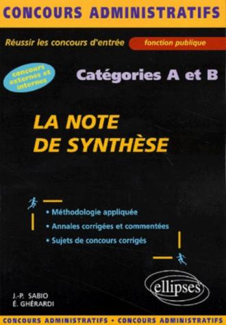 note de synthèse (La) - catégories A et B