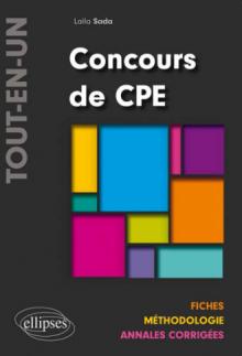 Concours de CPE « Tout-en-un » Fiches – Méthodologie – Annales corrigées