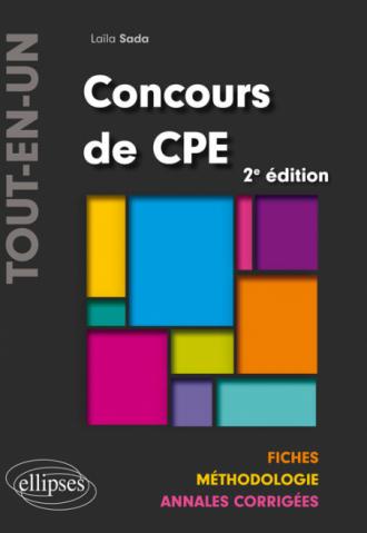 Concours de CPE Tout-en-un – Fiches, Méthodologie, Annales corrigées - 2e édition