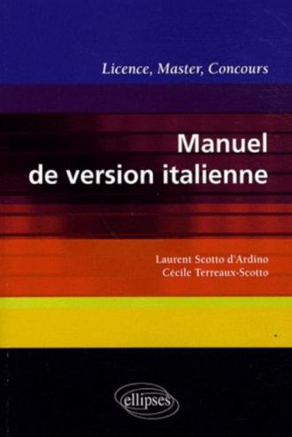 Manuel de version italienne. Licence, Master, Concours