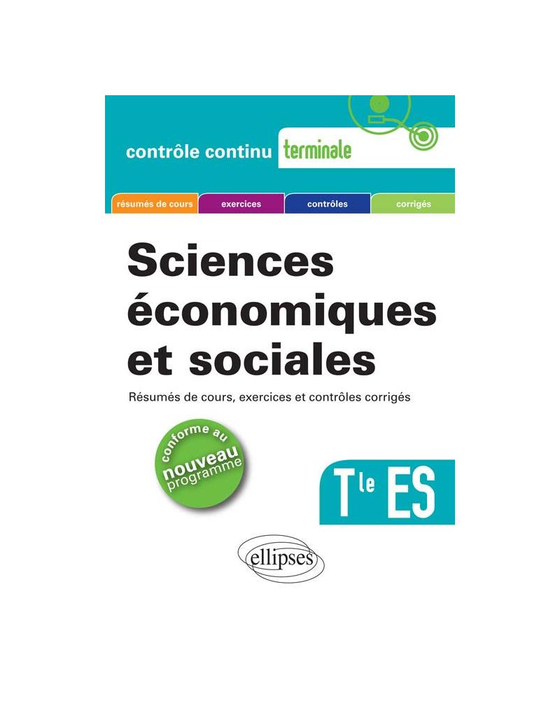 Sciences économiques et sociales - Terminale ES - nouveau programme