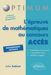 l'épreuve de mathématiques au concours ACCES