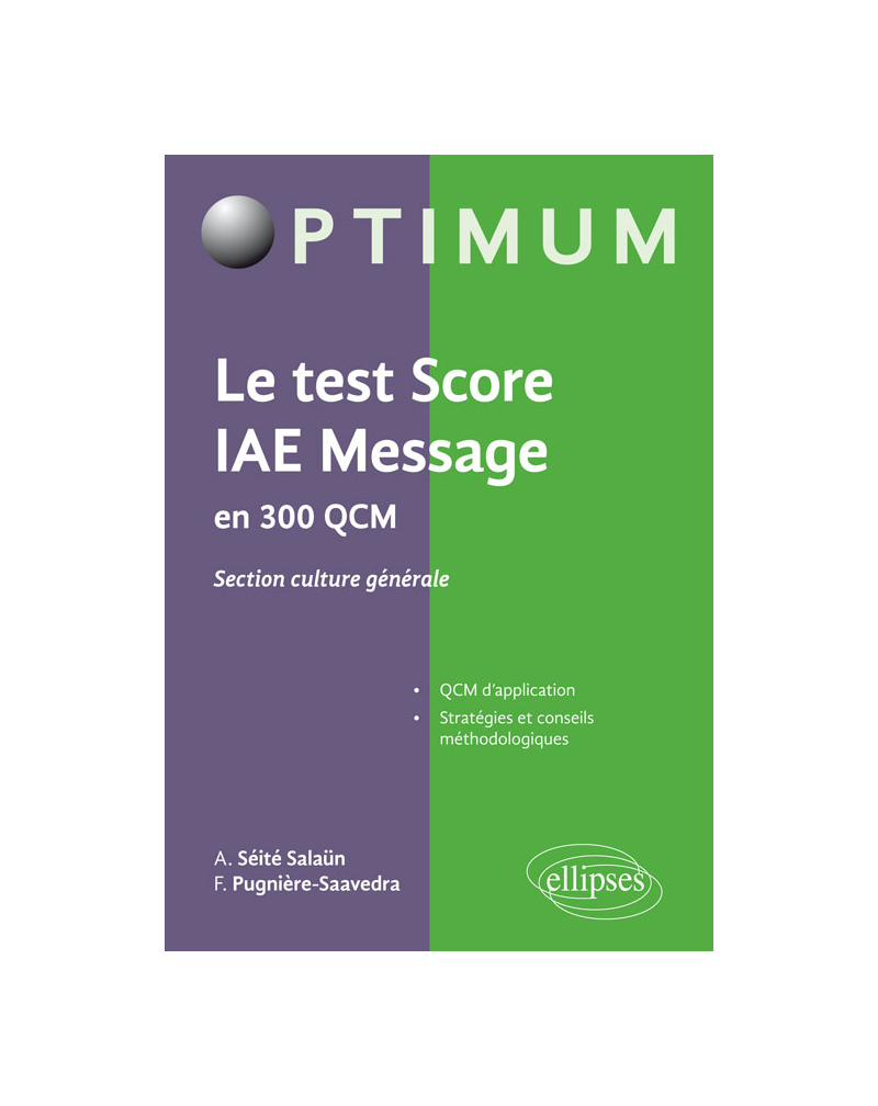 Le test score IAE Message en 300 QCM - section culture générale