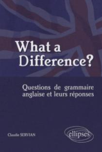What a difference? Questions de grammaire anglaise et leurs réponses
