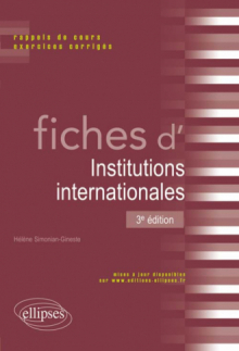 Fiches d'institutions internationales - 3e édition