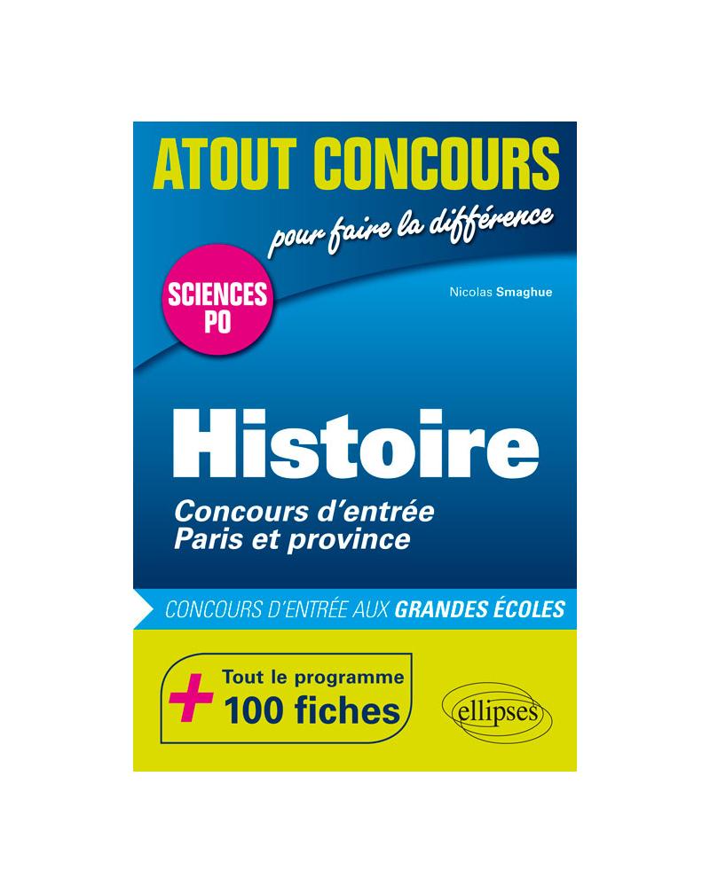 Histoire - Sciences Po - concours d'entrée Paris et province