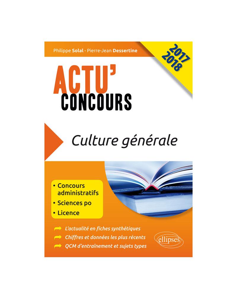 Culture générale - concours 2017-2018