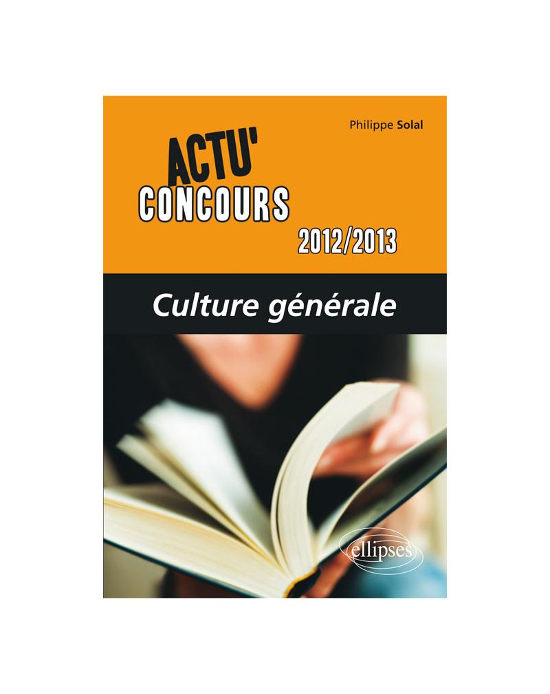 Culture générale - 2012-2013