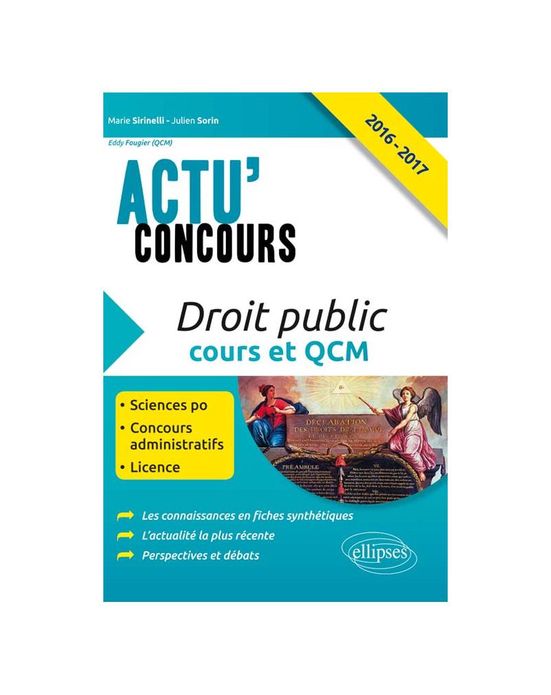 Droit public - Cours et QCM - 2016-2017