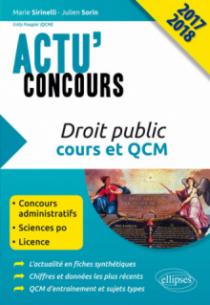 Droit public - cours et QCM - concours 2017-2018