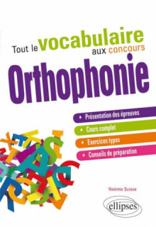 Tout le vocabulaire au concours d'orthophonie
