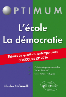 Thèmes de Questions Contemporaines – Concours IEP 2016 – L'école / La démocratie