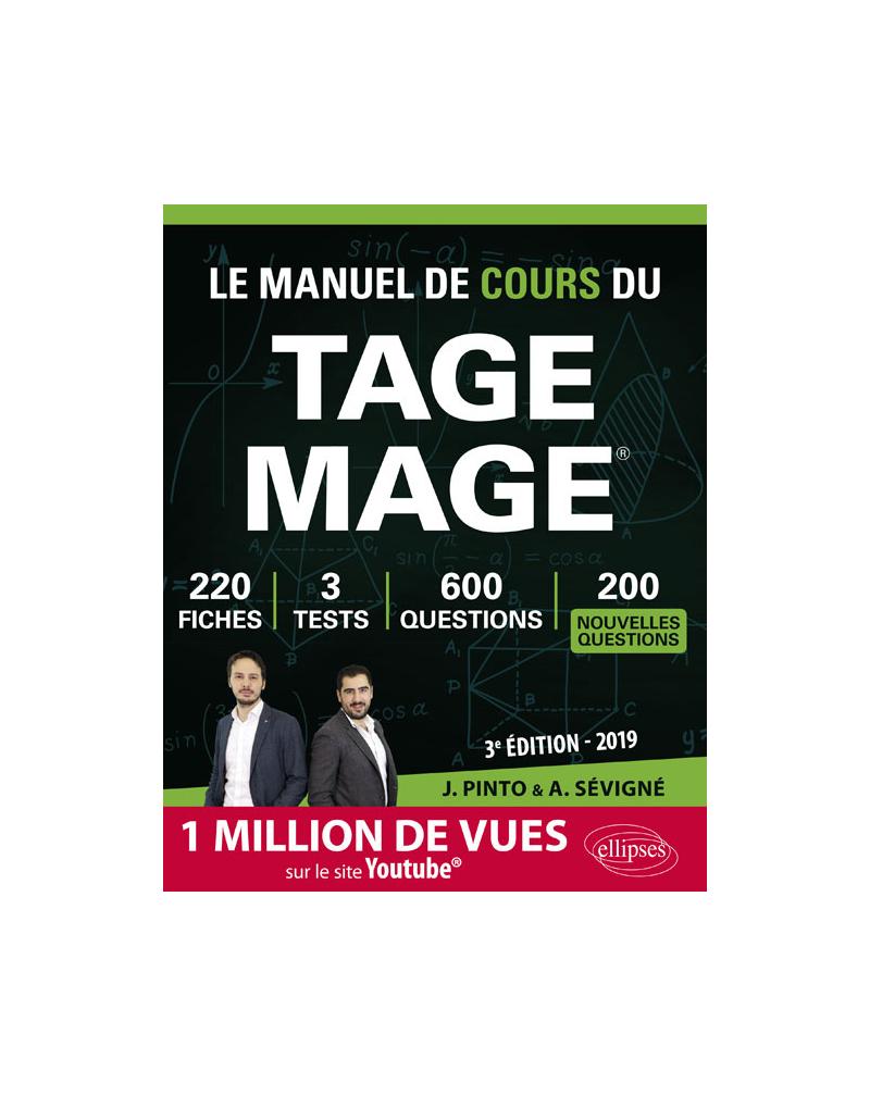 Le Manuel de Cours du TAGE MAGE - édition 2019