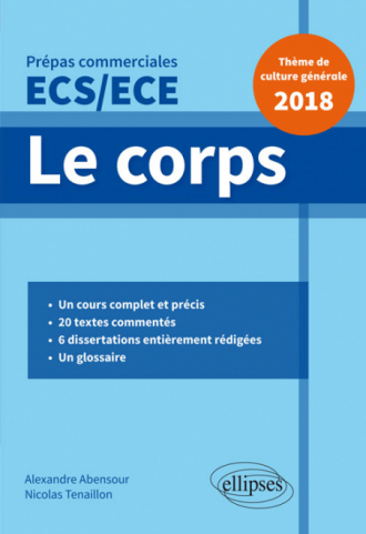 Le corps - Épreuve de culture générale - Prépas commerciales ECS / ECE 2018