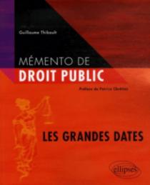 Mémento de droit public. Les grandes dates