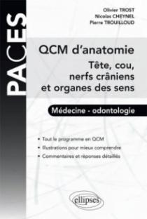 QCM d'Anatomie - Tête, cou, nerfs crâniens et organes des sens