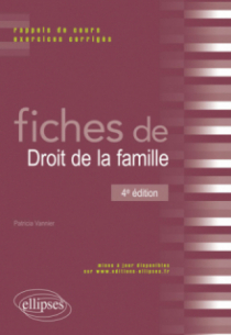 Fiches de Droit de la famille - 4e édition