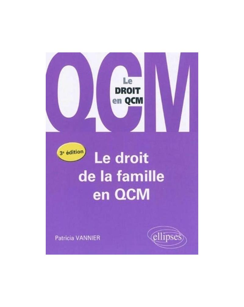 Le droit de la famille en QCM - 3e édition
