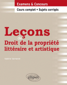Leçons de Droit de la propriété littéraire et artistique