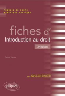 Fiches d'Introduction au droit - 3e édition
