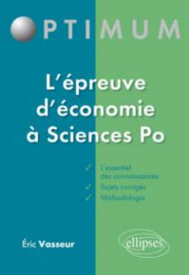 L'épreuve d'économie à Sciences po - rappels de cours et sujets corrigés