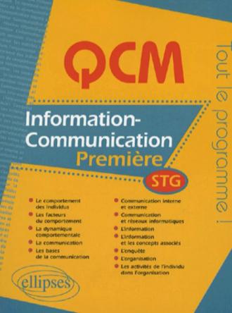 QCM information-communication - Première STG