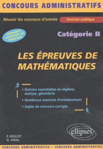 Les épreuves de mathématiques - catégorie B