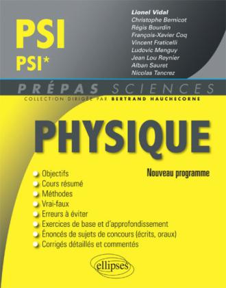 Physique PSI/PSI* - nouveau programme 2014