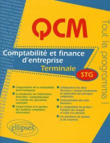 Comptabilité et finance des entreprises - Terminale STG