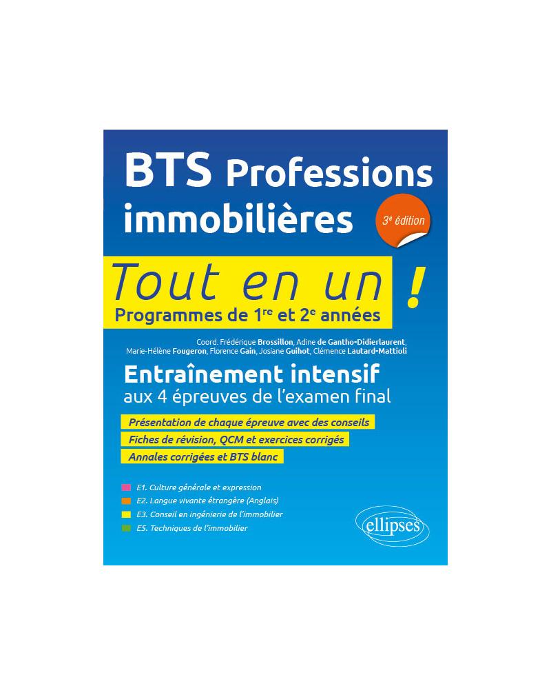 BTS PI (professions immobilières), 3e édition
