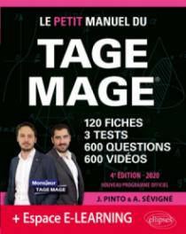 Le Petit Manuel du TAGE MAGE - 3 tests blancs + 120 fiches de cours + 600 questions + 600 vidéos – édition 2020