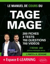Le Manuel de Cours du TAGE MAGE – 3 tests blancs + 200 fiches de cours + 700 questions + 700 vidéos – édition 2020