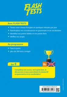 Anglais. Flash Tests Niveau B1. Testez votre niveau d'anglais !
