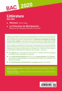 Hernani, Victor Hugo et La princesse de Montpensier, Madame de Lafayette / Bertrand Tavernier. Sujets et méthode. BAC L 2020