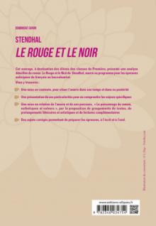 """Français, Première. L'œuvre et son parcours : Stendhal, Le Rouge et le Noir, parcours """"Le personnage de roman, esthétiques et valeurs"""""""
