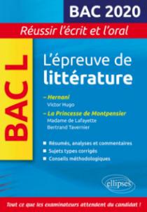 Épreuve de littérature Bac 2019-2020
